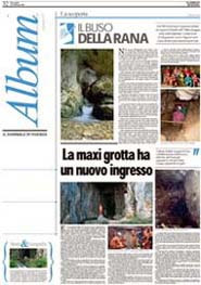 21/02/2007 Il Giornale di Vicenza-Il Buso della Rana.