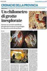 12-09-2007 Il Giornale di Vicenza-Un chilometro di grotte inesplorate.