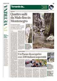 09-11-2007 Il Giornale di Vicenza-Quattro salti da Malo fino in Montenegro.