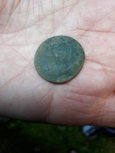 Moneta trovato nei paraggi dell'ingresso del Peroloch coniata Vittorio Emanuele II (1861).
